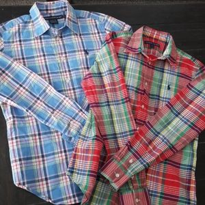 Bundle of 2 Ralph Lauren plaid shirts